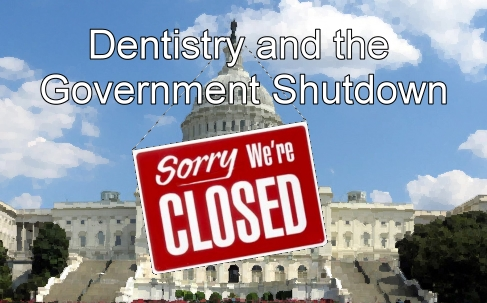 government shutdown and dentistry graphic